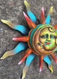 Colorful Sun and Moon
