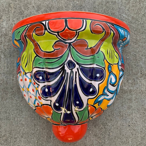 talavera wall pot