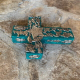 wood cross milagros charms