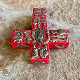 milagros folk art wood cross