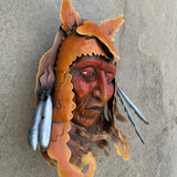 indian face wall decor