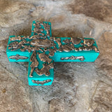 wood mexican milagros cross