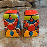 handpainted talavera salt and pepper set