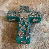 mexican milagros wood charm cross
