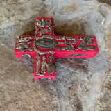 wood milagros folk art cross