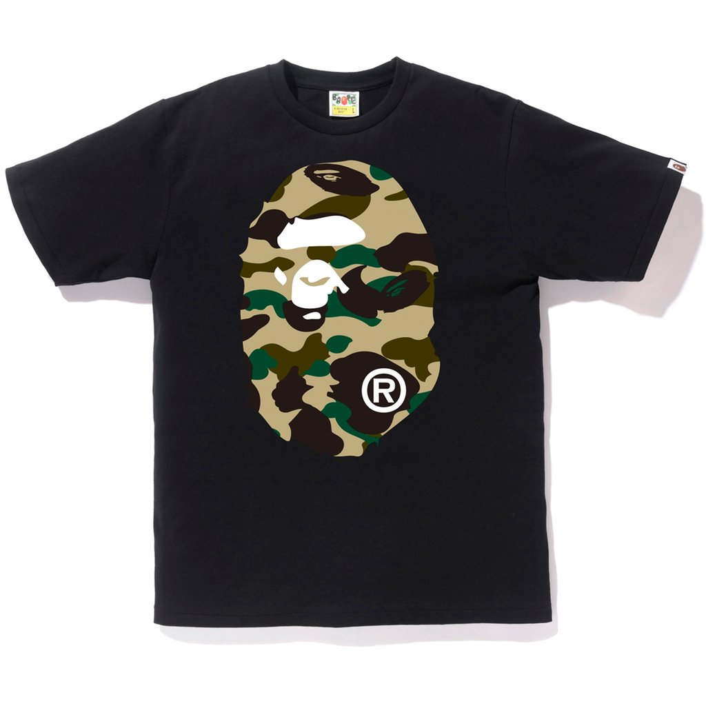 Bape 1st Camo Big Ape Head Tee -Black