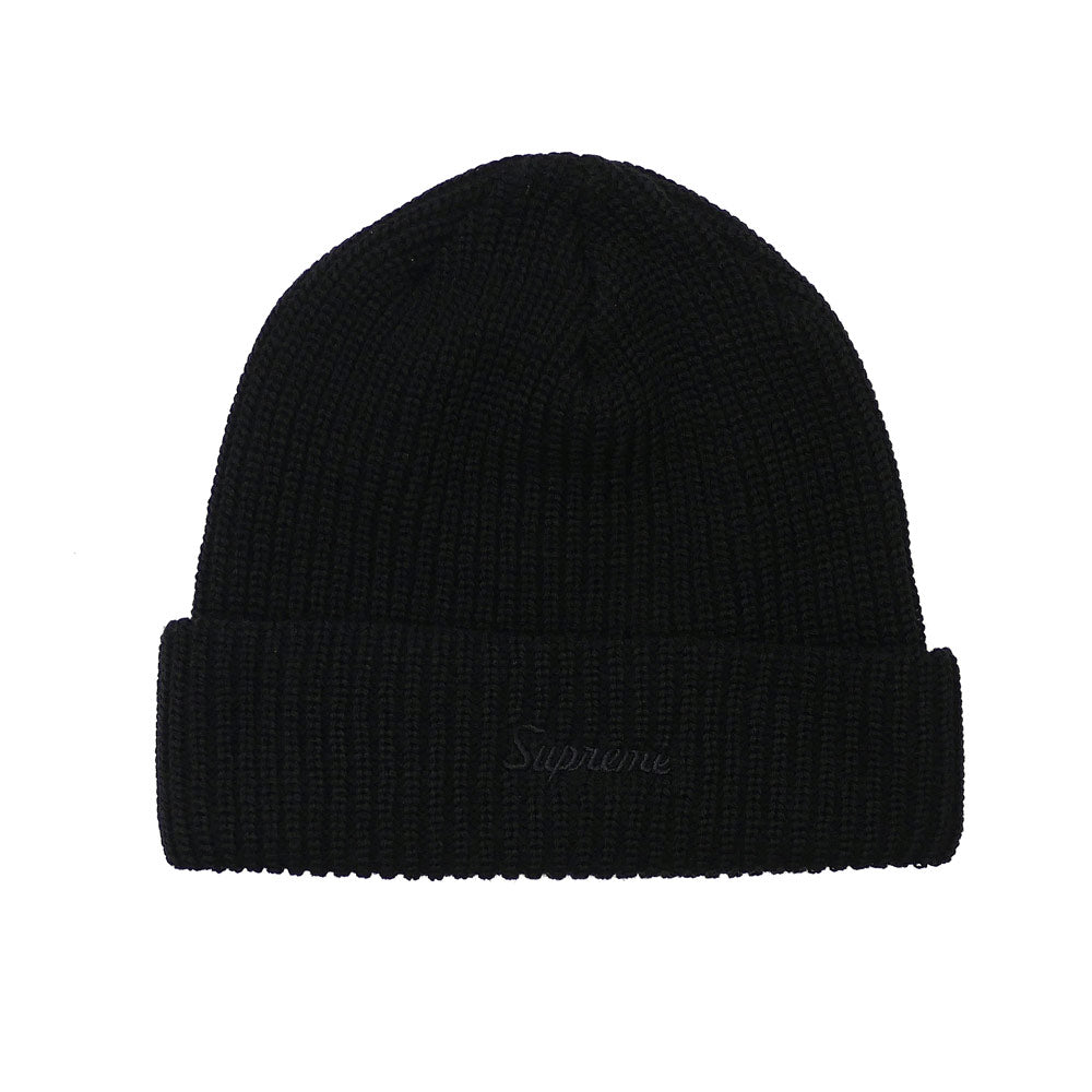 Supreme Loose Gauge Beanie - Black Tonal