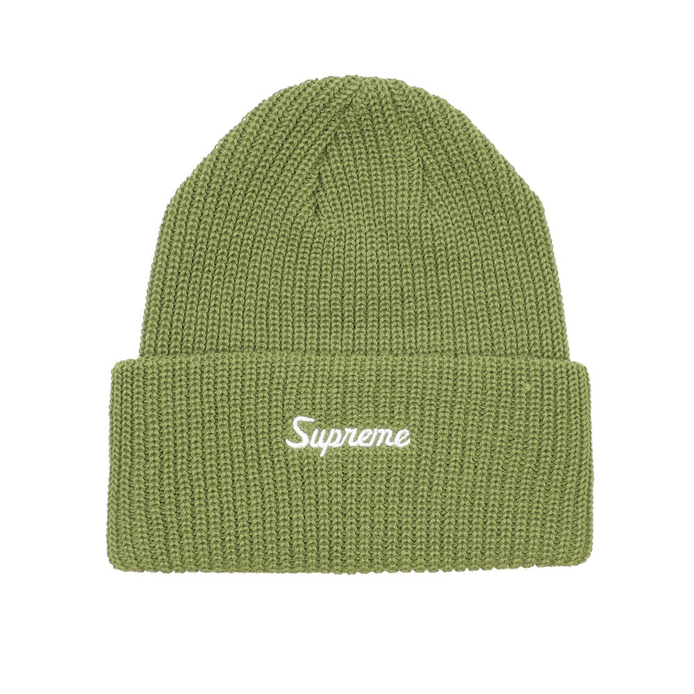 Supreme Loose Gauge Beanie (FW19) - Light Olive