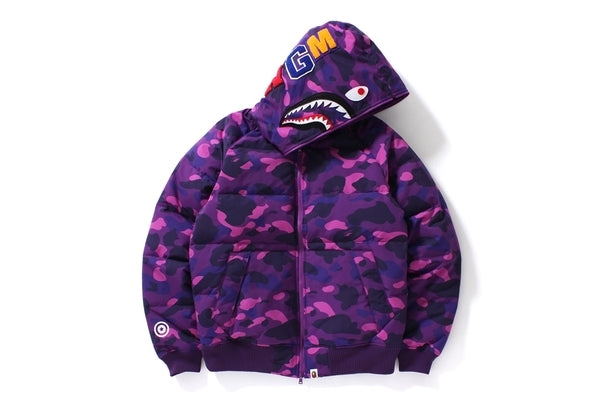 Bape Zip Up puffer Jacket - purple camo