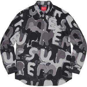 Supreme Painted Logo Shirt Black