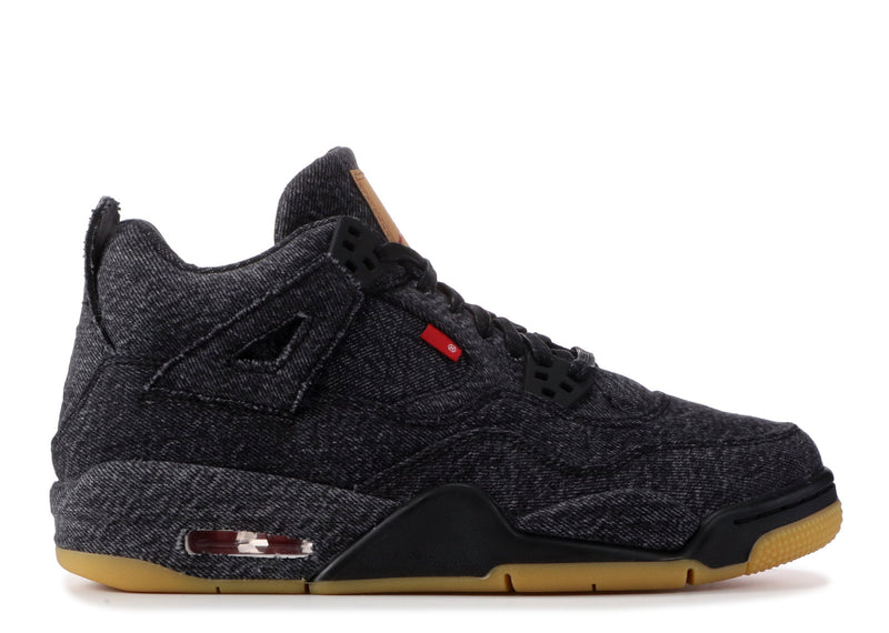 "Air Jordan 4 ""Black Levi Blank Tag"""