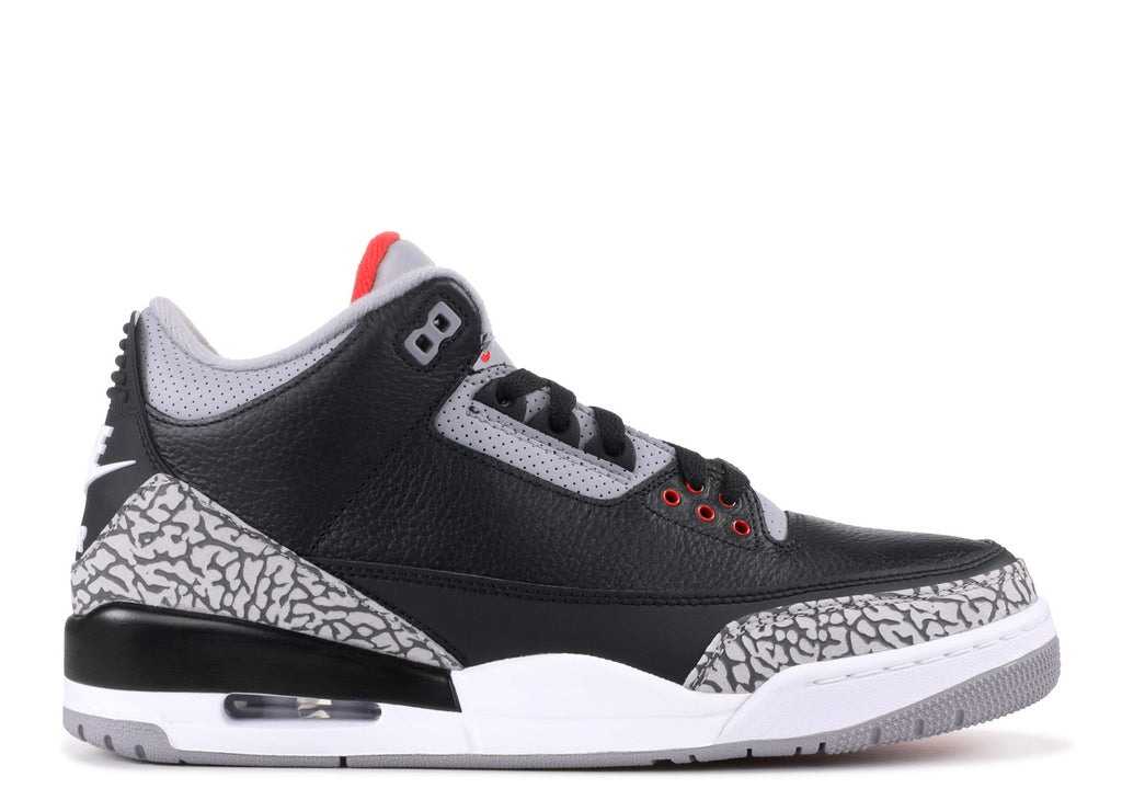 "Air Jordan 3 ""Black Cement 2018 Release"""