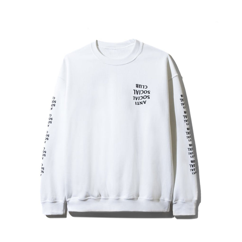 ASSC Crewneck -Blacked Out -White