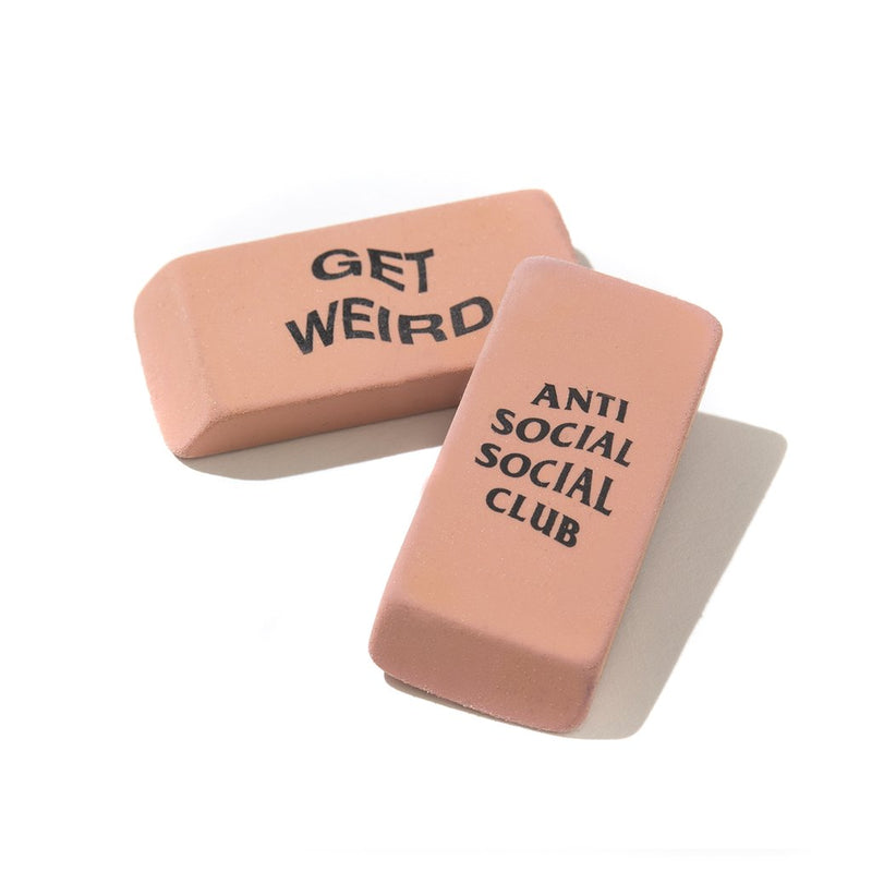 Anti Social Social Club Double sided Eraser- (set of 3)