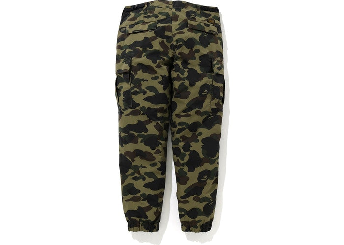 BAPE 1st Camo Nylon 6 Pocket Jogger Pants Green