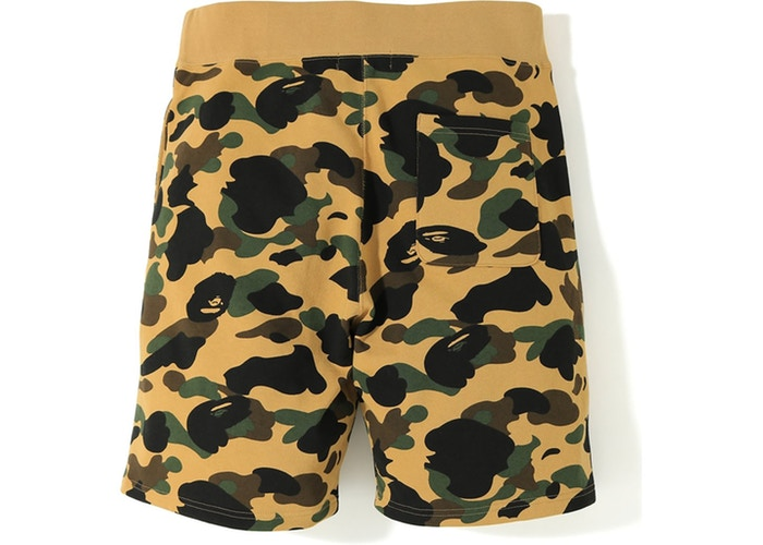 BAPE 1st Camo Shark Sweat Shorts - Yellow