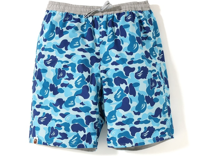 Bape Reversible ABC Swim Shorts -Blue Camo/Grey