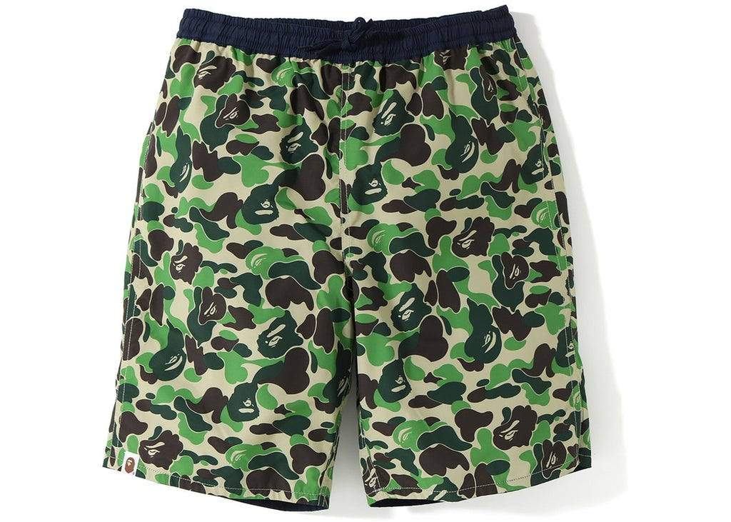 Bape ABC Reversible Swim Shorts -Green Camo Navy