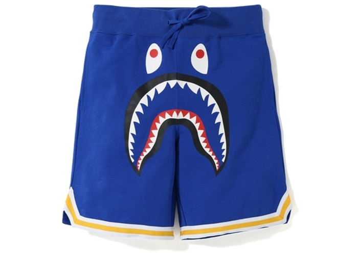 Bape Shark Sweat Shorts - Royal Blue