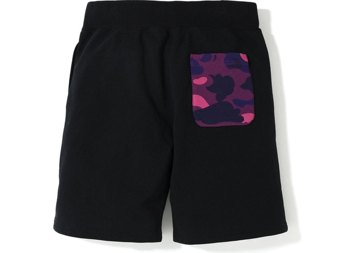 BAPE Shark Sweat Shorts- Black/Purple