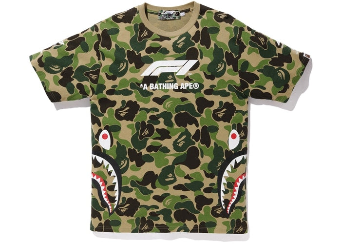 BAPE x F1 Shark Tee Green