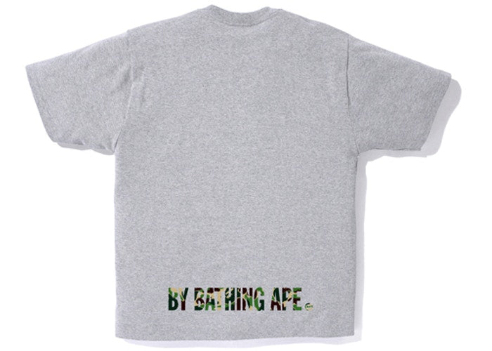 BAPE ABC Camo Ape Face Tee Gray/Green