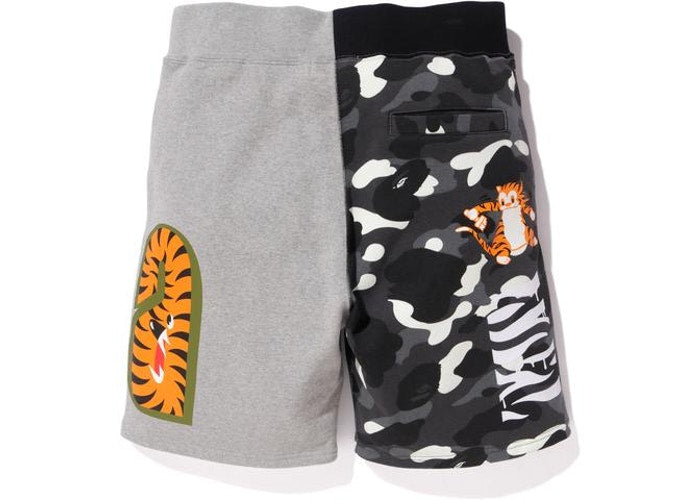 Bape City Camo Tiger Sweat Shorts - Gray