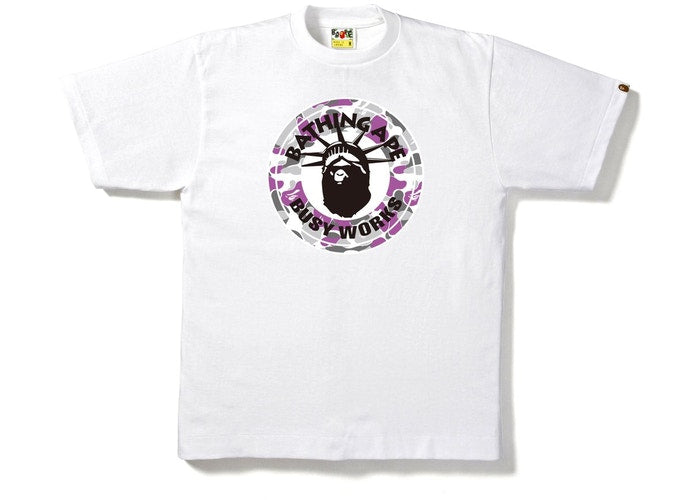 BAPE Ny Camo Busy Works Tee -White-