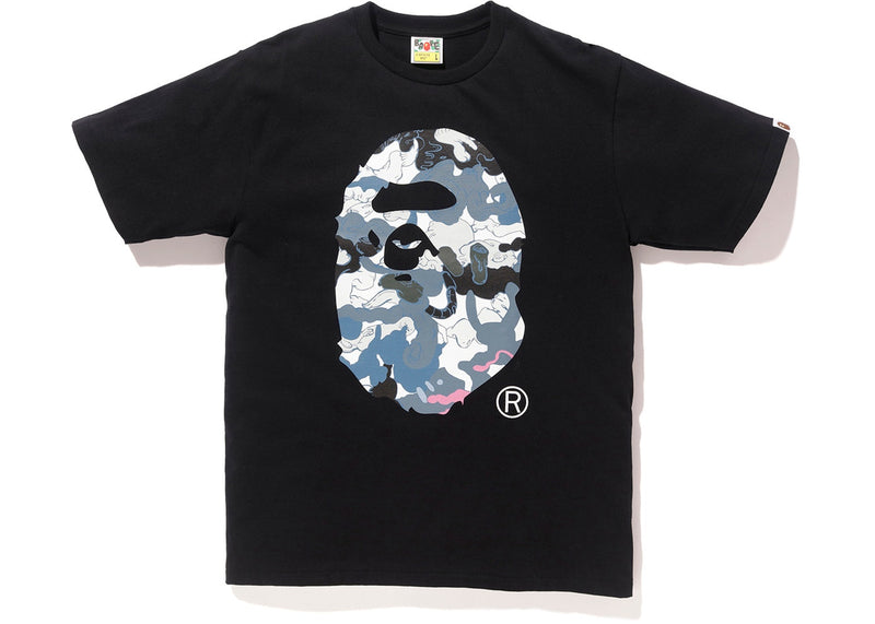 "Bape x Hebru Brantley Tee ""Blue Camo Ape Head"""
