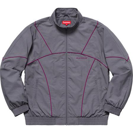 Supreme Piping Track Jacket (SS19) -Grey