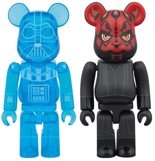 "BEARBRICK X STAR WARS (HALOGRAPHIC VER.) ""DARTH VADER AND DARTH MAUL"" 100%"