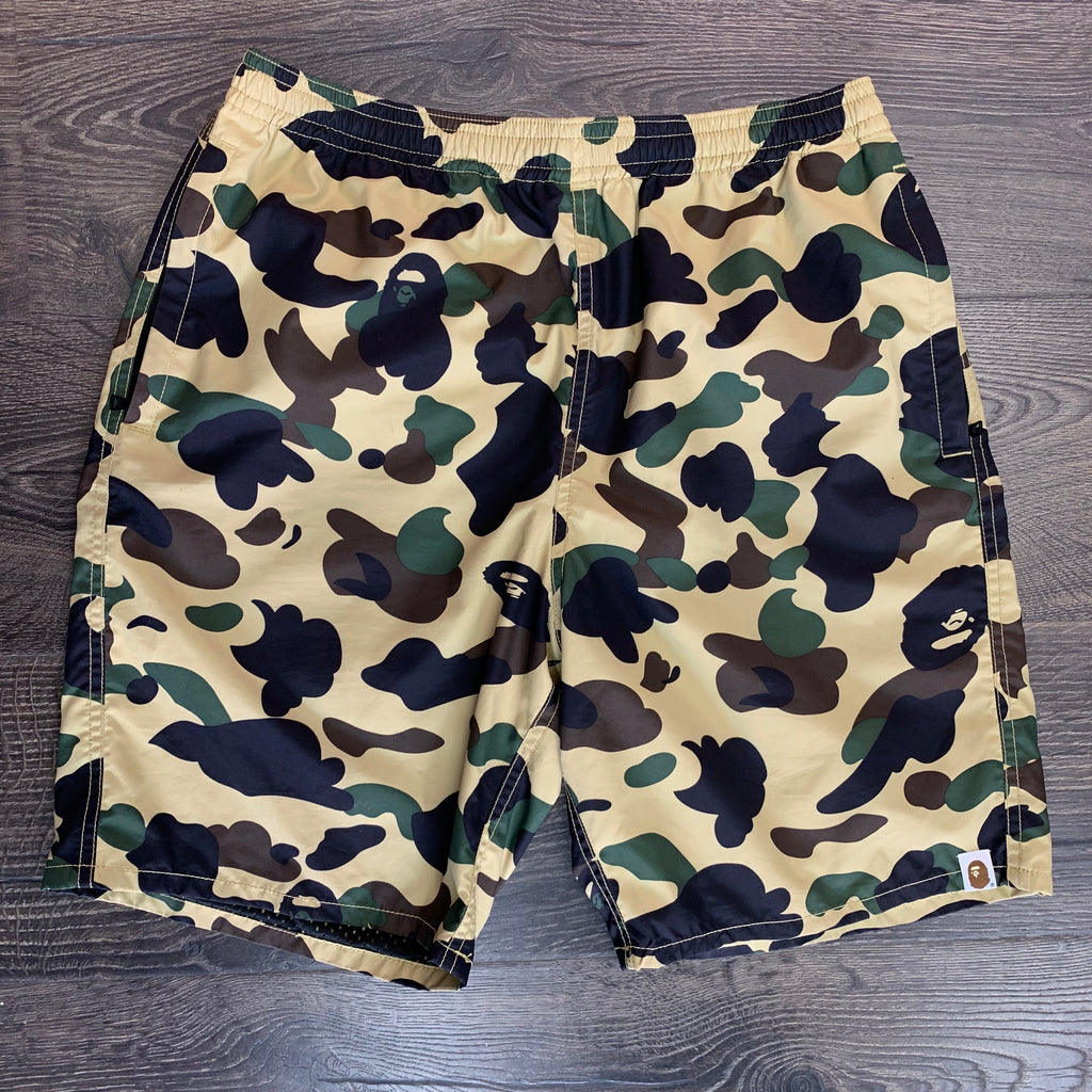 BAPE 1st Camo Beach Shorts -Yellow