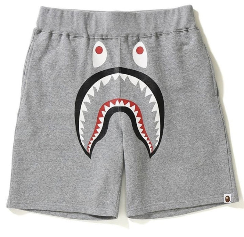 Bape Shark Sweat Shorts Gray