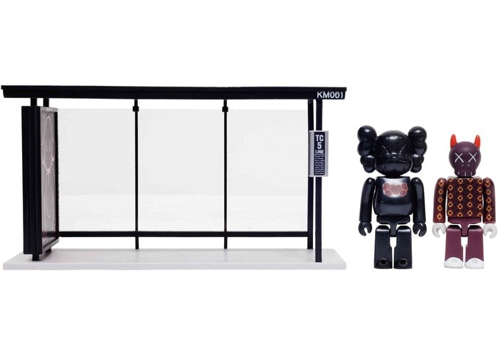 KAWS x Medicom Bus Stop Series Volume 1 Vinyl Toy - Black/Red