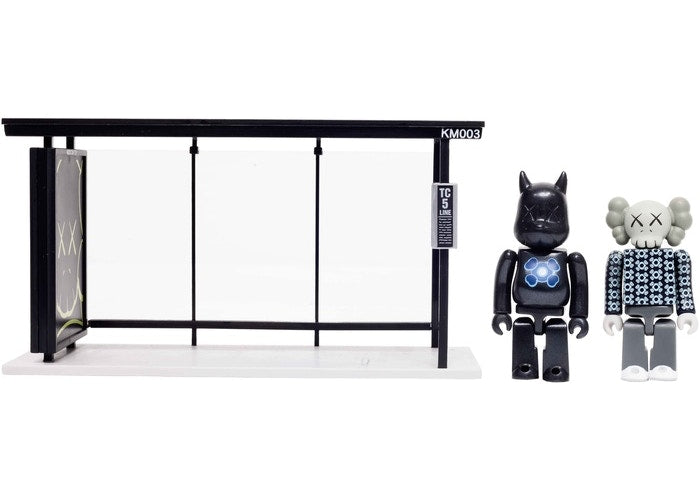 Kaws x Medicom Bus Stop Series Vol. 2 Vinyl Toy - Black/Blue