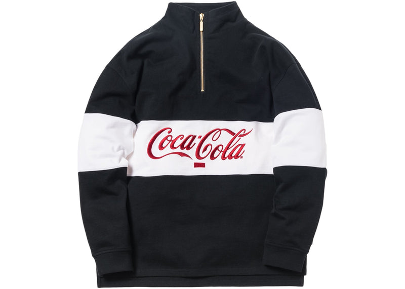 "Kith 1/4 Rugby Zip-Up ""Coca-Cola"""