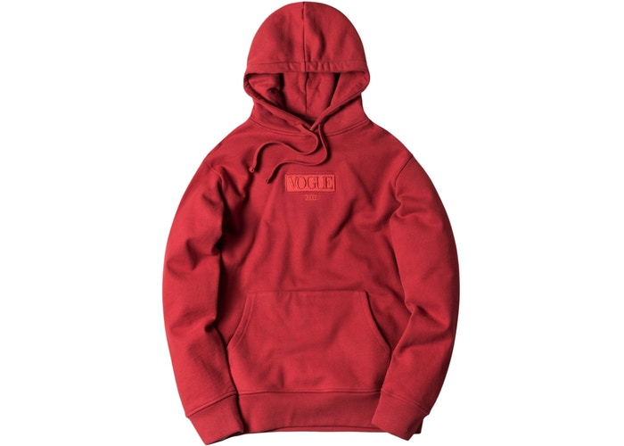 Kith x Vogue Hoodie Pompeian Red