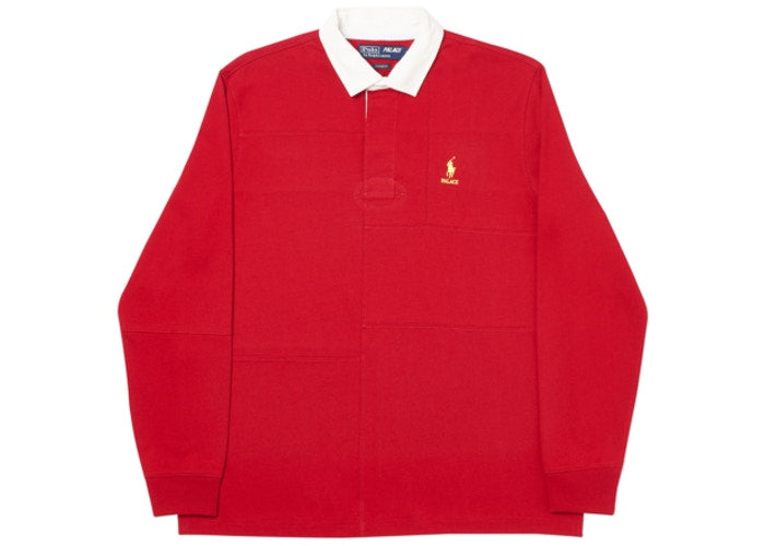 Palace x Polo Long Sleeve Polo - Red