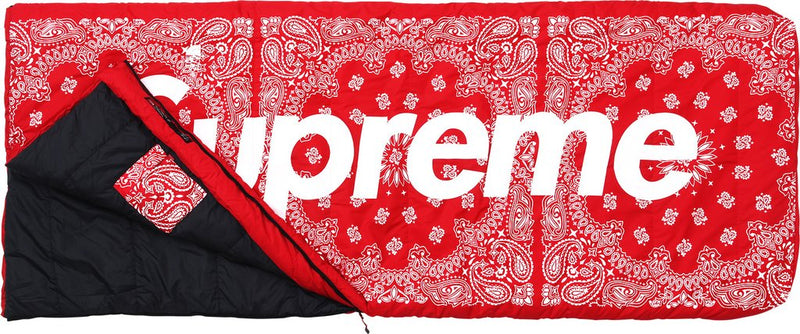 "Supreme Sleeping Bag ""Red Paisley"""