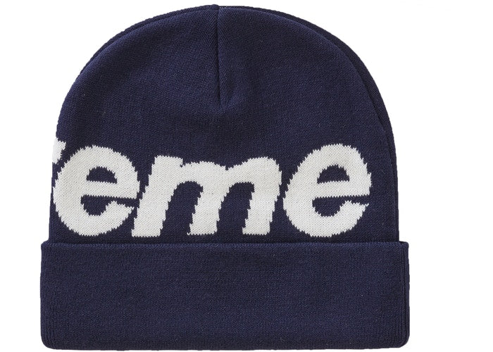 Supreme Big Logo Beanie (FW19) - Navy
