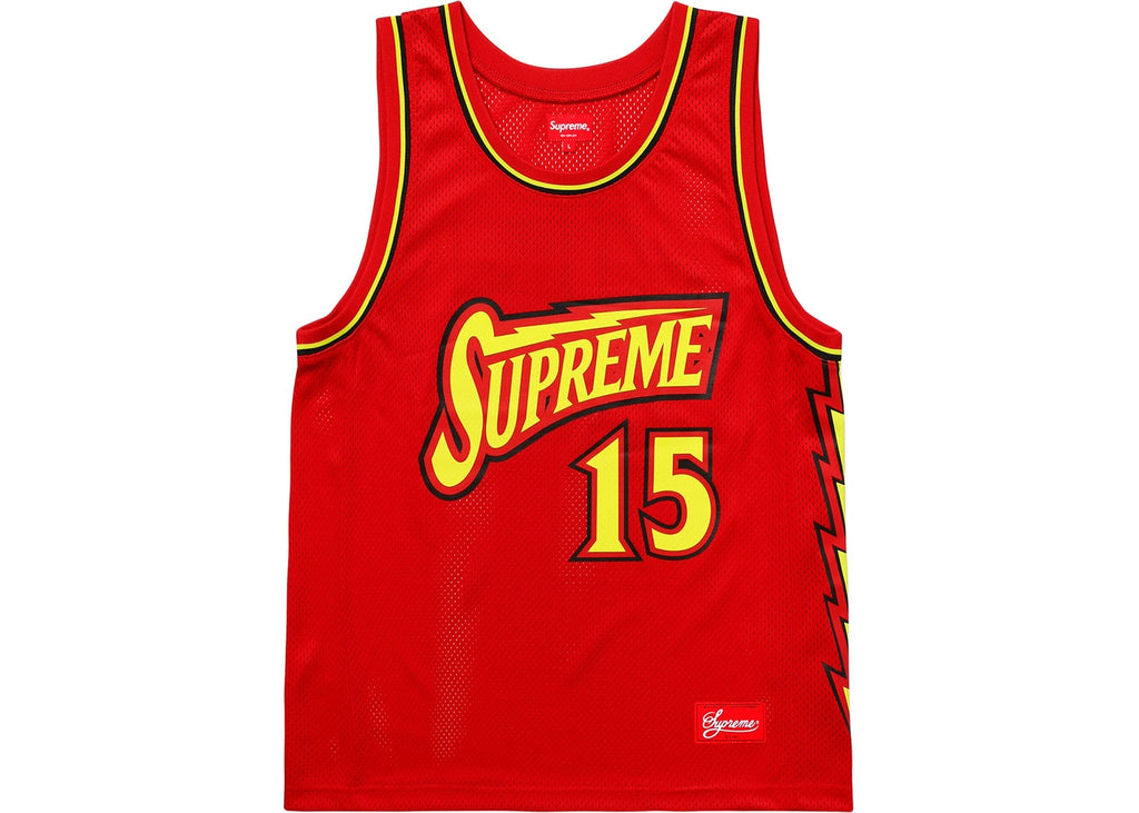 Supreme Bolt Basketball Jersey Red