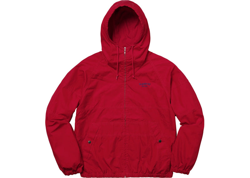 Supreme Hooded Raglan Jacket Red