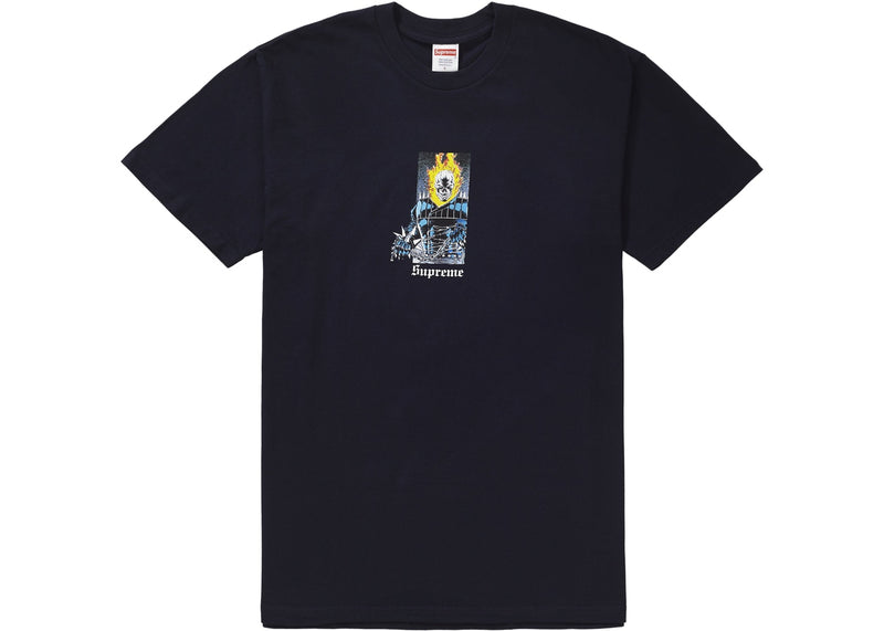 "Supreme Tee - ""Ghost Rider"" -Navy"