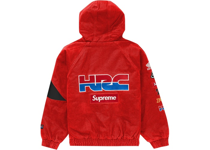 Supreme Honda Fox Racing Puffy Zip Up Jacket Red