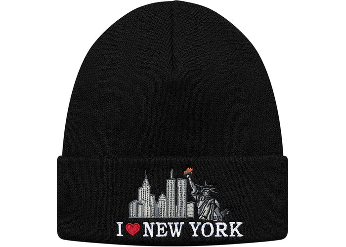 Supreme I Love NY Beanie Black