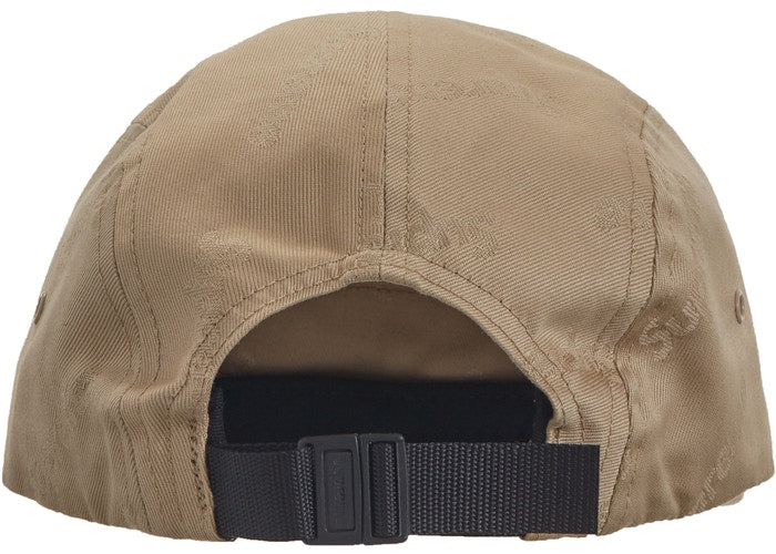 Supreme Jacquard Logos Twill Camp Cap Tan