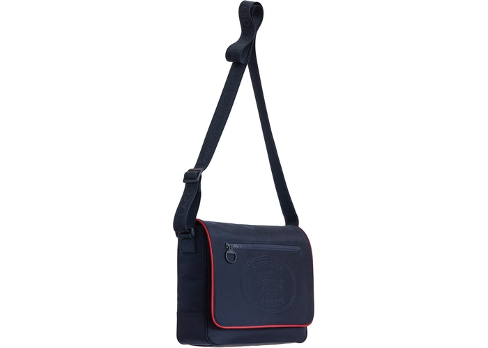 Supreme Lacoste Small Messenger Bag -Navy
