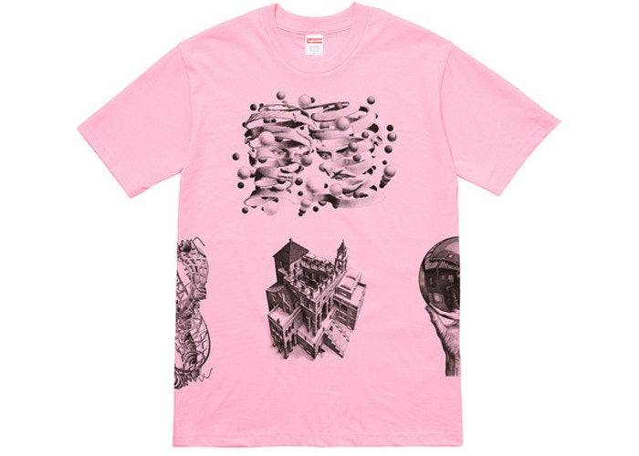 Supreme MC Esher Collage Tee Pink