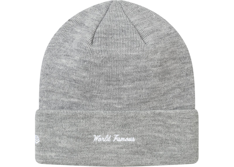 Supreme New Era Box Logo Beanie (FW17) Heather Grey