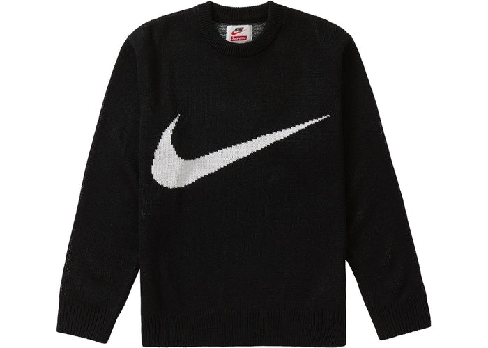 Supreme Nike Swoosh Sweater - Black